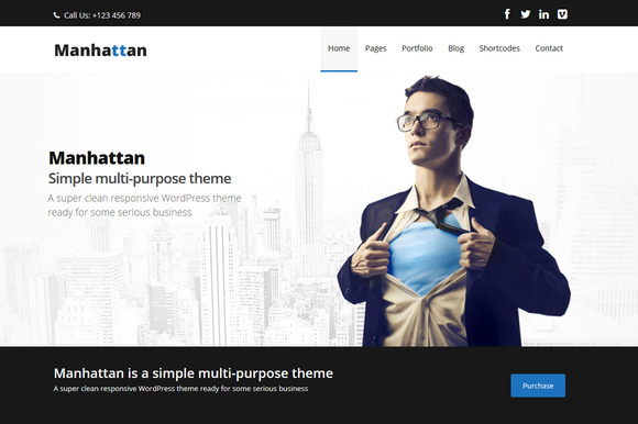 Manhattan Multi-Purpose Theme