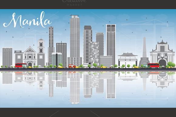 Manila Skyline With Gray Buildings