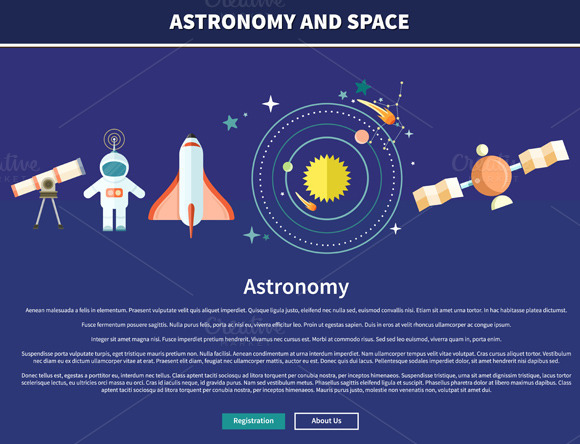Set Astronomy And Space Web Page
