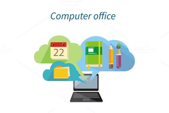 Computer Office Concept