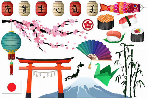 Japanese Asian Clipart Vector PNG