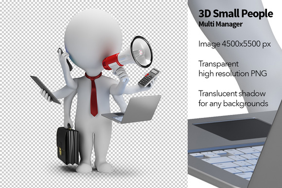 3D Small People Multi Manager