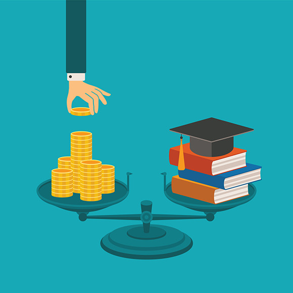 Education Investment Flat Style