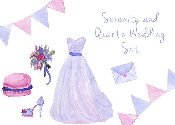 Serenity Wedding Watercolor Set