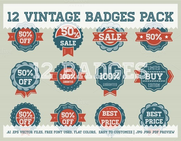 Vintage Badge Pack