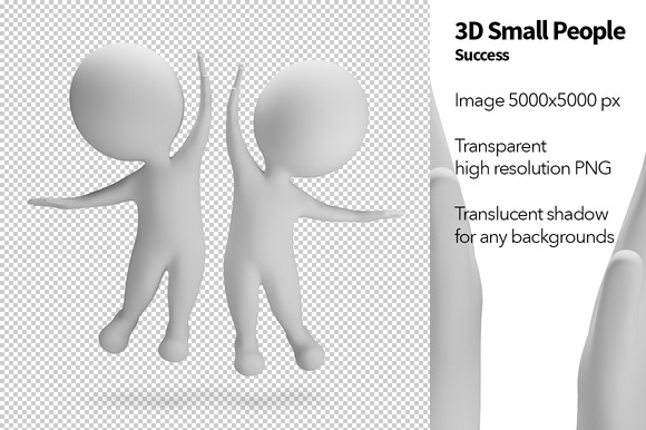 3D Small People Success