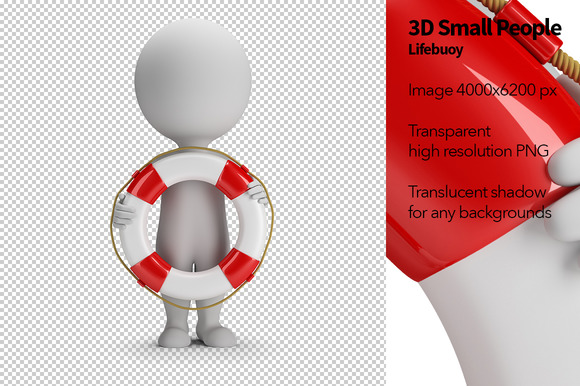 3D Small People Lifebuoy