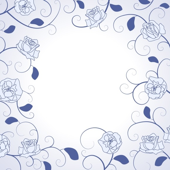 Decorative Roses Frame