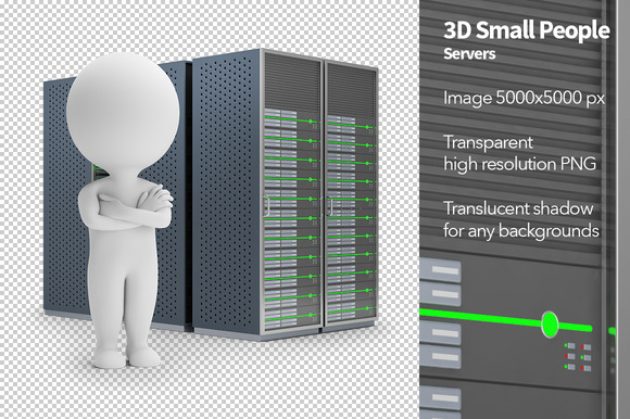 3D Small People Servers