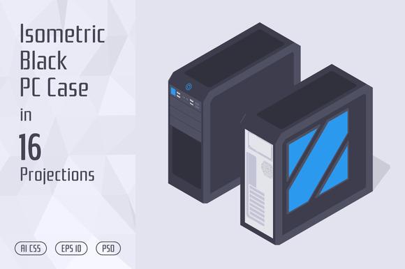 Isometric Black PC Case