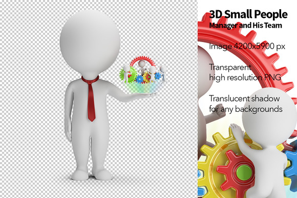 3D Small People Manager