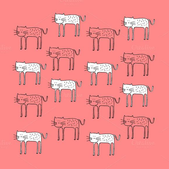 Cat Pattern Vector Illustration