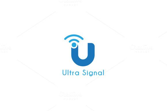 Ultra Signal Letter U Logo