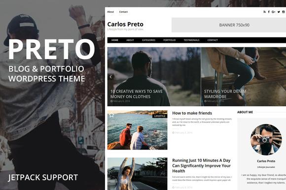 Preto WordPress Blog Portfolio