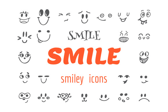 Set Of Emoticons Icons Smile