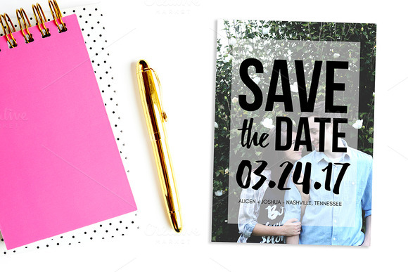 Bold Save The Date 5x7