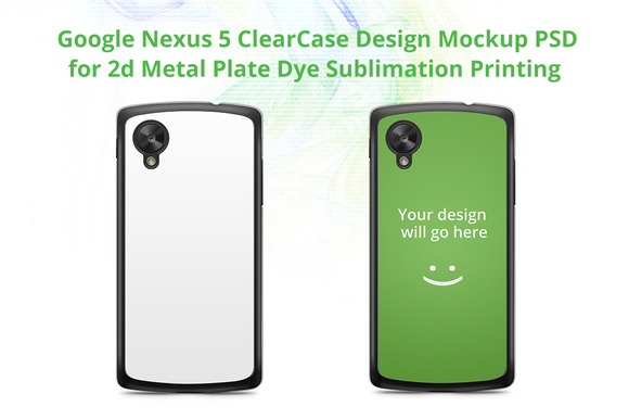Google Nexus 5 Clear Case Mockup
