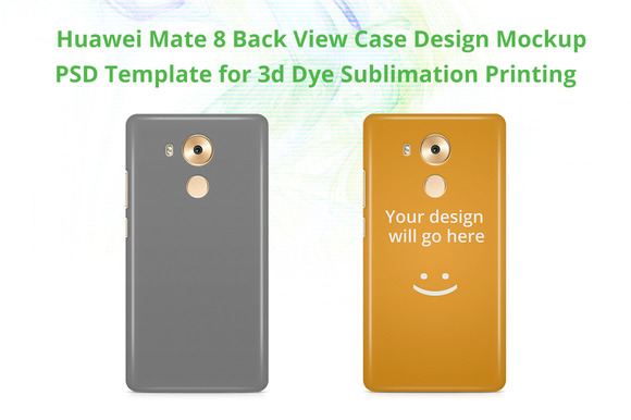 Huawei Mate 8 3D Case Mock-up