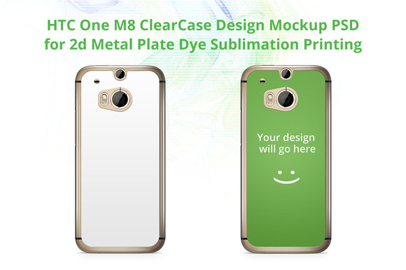 HTC One M8 ClearCase Back Mock-up