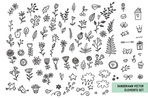 Handdrawn Vector Elements Set
