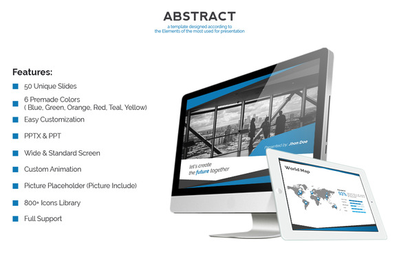Abstract Powerpoint Theme Template