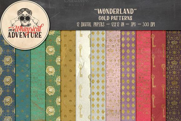 Gold Patterns Wonderland