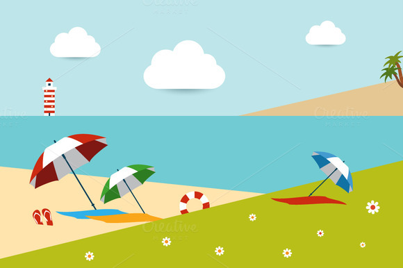 Beach Day Concept Illustration