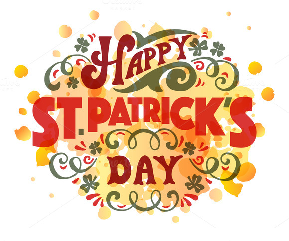 St Patrick's Day Lettering