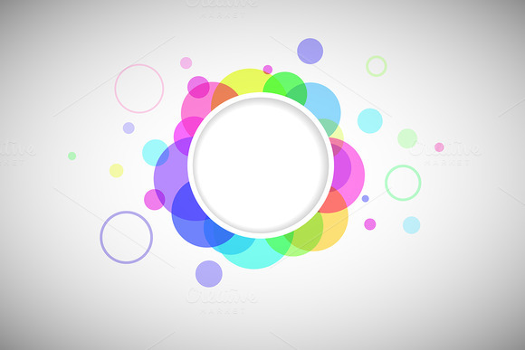 Round Form With Colored Circles