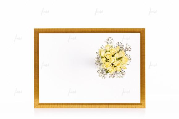Golden Styled Frame Isolated Mockup