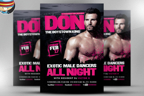 Male Dancers Flyer Template