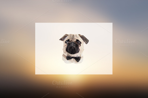 Geometric Pug Illustration