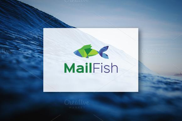 MailFish Logo Design