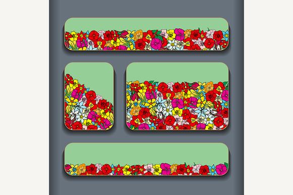Flowers Pattern Cards