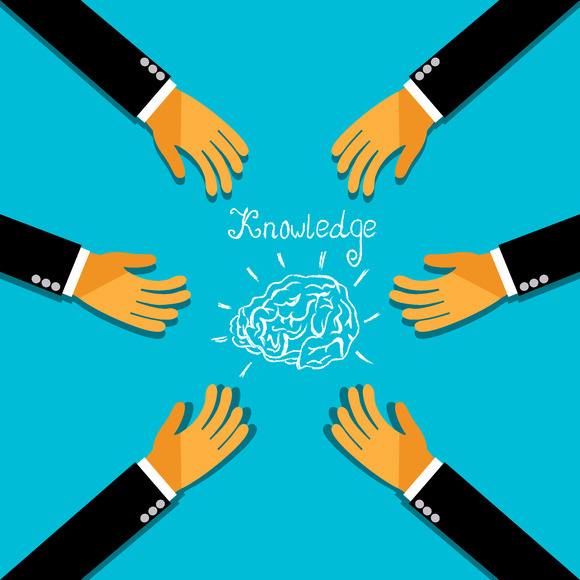 Knowledge Brainstorm Hands