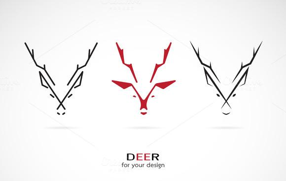 Vector Image Of An Deer Design