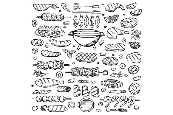 Grill Set 3 Seamless Patterns