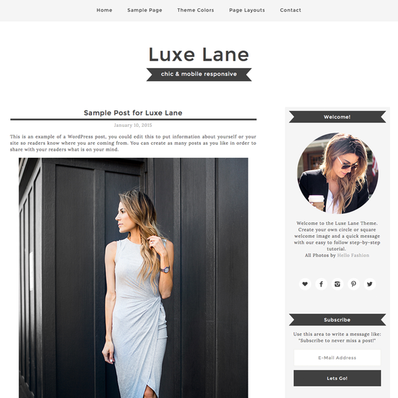 Luxe Lane WordPress Theme