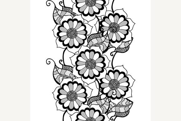Monochrome Floral Pattern