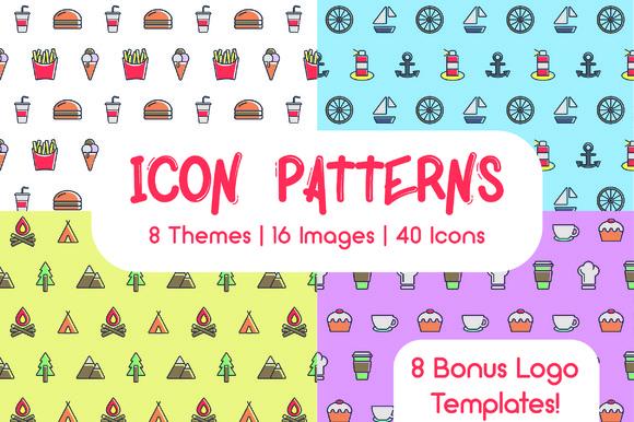 Icon Patterns Bundle 8 Themes