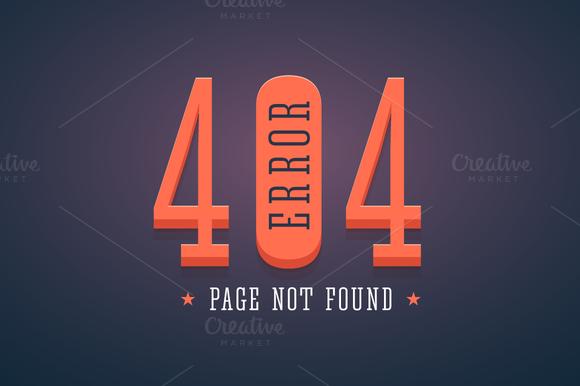 404 Error Website Page