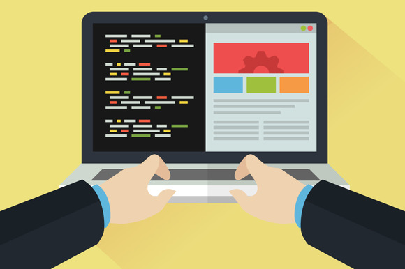 Flat Illustration Web Development