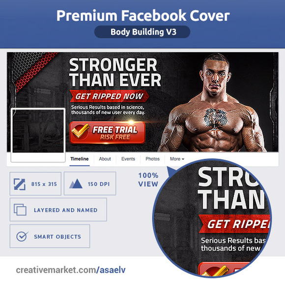 50% OFF- Body Building FB Cover V3