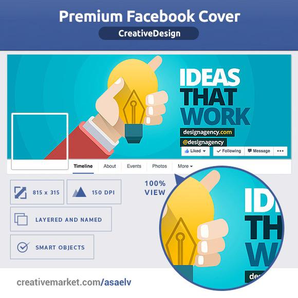 50% OFF- Creative Design FB Cover