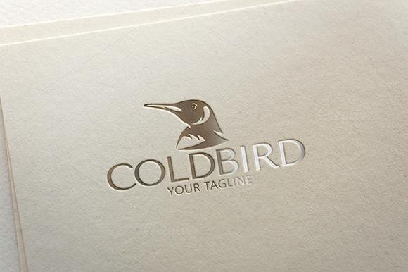 Cold Bird Penguin Logo