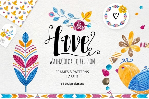 Love Watercolor Collection