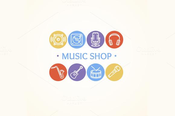 Music Shop Concept Vector
