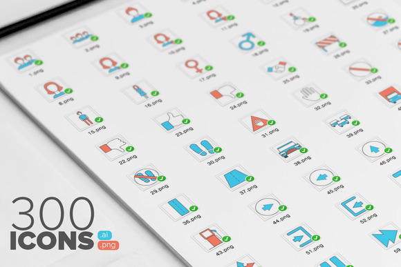 300 Vector Icons Set