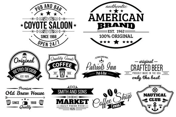 10 Retro Labels And Badges