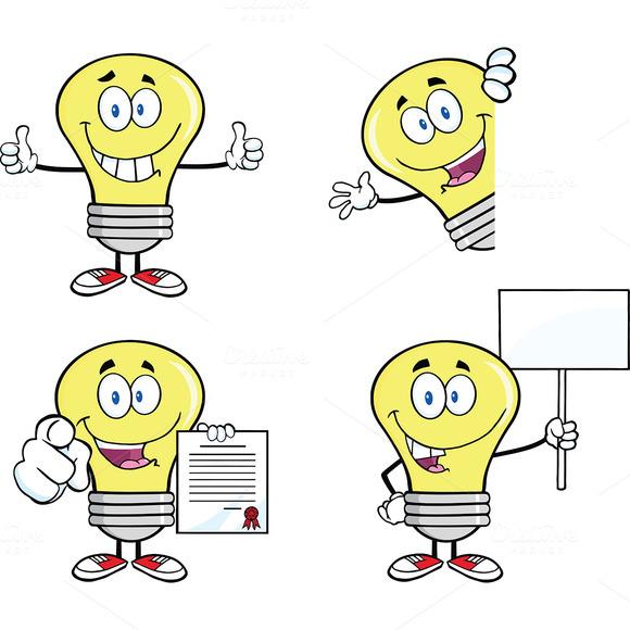 Yellow Light Bulbs Collection 1